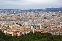Πανόραμα της Μασσαλίας από το Λα Garde Basilique Notre Dame de, Γαλλία Μασσαλία στοκ φωτογραφία με δικαίωμα ελεύθερης χρήσης