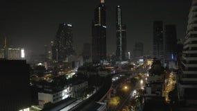 πανόραμα της Μπανγκόκ απόθεμα βίντεο