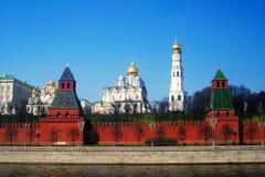 Πανόραμα της Μόσχας Κρεμλίνο, άποψη από τον ποταμό της Μόσχας. Στοκ Φωτογραφίες