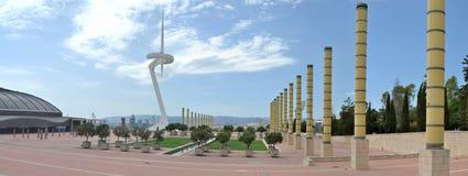 Πανόραμα της ολυμπιακής περιοχής της Βαρκελώνης Στοκ φωτογραφία με δικαίωμα ελεύθερης χρήσης