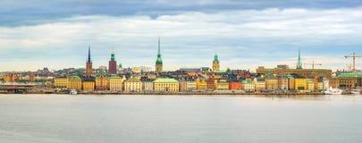 Πανόραμα της παλαιάς πόλης Στοκχόλμη Στοκ φωτογραφίες με δικαίωμα ελεύθερης χρήσης