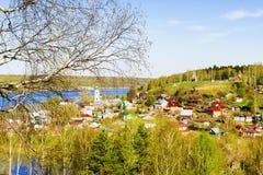 Πανόραμα της παλαιάς πόλης Ples, Ρωσία Στοκ Εικόνες
