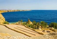 Πανόραμα της παραλίας στο σκόπελο Sheikh Sharm EL, Αίγυπτος Στοκ Φωτογραφίες