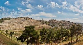 Πανόραμα της παλαιάς πόλης της Ιερουσαλήμ Στοκ φωτογραφία με δικαίωμα ελεύθερης χρήσης