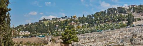 Πανόραμα της παλαιάς πόλης της Ιερουσαλήμ Στοκ Εικόνα