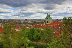 Πανόραμα της Πράγας, Κάστρο της Πράγας, HradÄ  οποιοιδήποτε, Πράγα, Δημοκρατία της Τσεχίας Στοκ Εικόνες