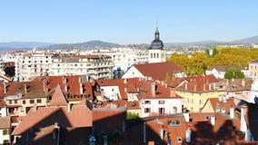 Πανόραμα της πόλης του Annecy απόθεμα βίντεο