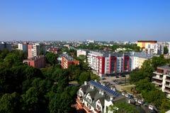 Πανόραμα της πόλης του Lublin στο σύνολο της Πολωνίας των φραγμών και των πράσινων δέντρων στοκ εικόνες