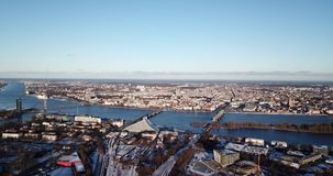Πανόραμα της πόλης απόθεμα βίντεο