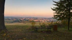 Πανόραμα της πόλης Bruntal, Δημοκρατία της Τσεχίας Στοκ Εικόνα
