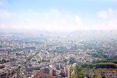 Πανόραμα της πόλης Παρίσι Στοκ φωτογραφίες με δικαίωμα ελεύθερης χρήσης
