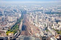 Πανόραμα της πόλης Παρίσι Στοκ Φωτογραφία