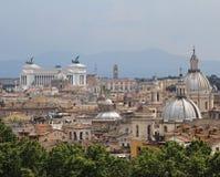 Πανόραμα της πόλης της Ρώμης που βλέπει από Castel SAN Angelo με το Al Στοκ φωτογραφίες με δικαίωμα ελεύθερης χρήσης