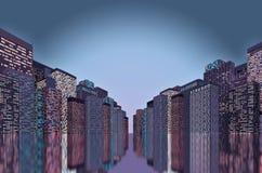 Πανόραμα της πόλης Στοκ Φωτογραφία