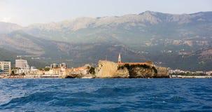 Πανόραμα της πόλης Budva στο Μαυροβούνιο στοκ εικόνες