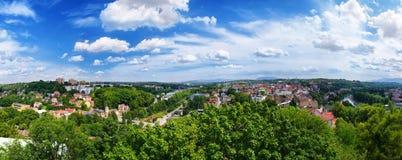 Πανόραμα της πόλης Cieszyn Στοκ Εικόνα