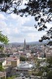 Πανόραμα της πόλης Cluj-Napoca από την περιοχή της Τρανσυλβανίας στη Ρουμανία Στοκ φωτογραφίες με δικαίωμα ελεύθερης χρήσης