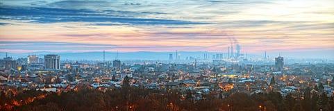 Πανόραμα της Ρουμανίας Ploiesti Στοκ φωτογραφία με δικαίωμα ελεύθερης χρήσης