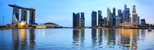 Πανόραμα της Σιγκαπούρης Στοκ εικόνες με δικαίωμα ελεύθερης χρήσης