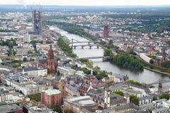 Πανόραμα της Φρανκφούρτης Αμ Μάιν, Γερμανία. στοκ εικόνα
