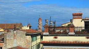Πανόραμα της όμορφης πόλης του Αρέζο στην Τοσκάνη - την Ιταλία Στοκ εικόνες με δικαίωμα ελεύθερης χρήσης