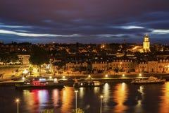 Πανόραμα της Angers στο ηλιοβασίλεμα Στοκ εικόνα με δικαίωμα ελεύθερης χρήσης