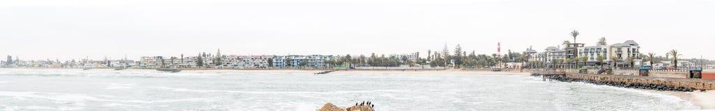 Πανόραμα της Misty του Molen και του ξενοδοχείου σκελών σε Swakopmund Στοκ εικόνα με δικαίωμα ελεύθερης χρήσης