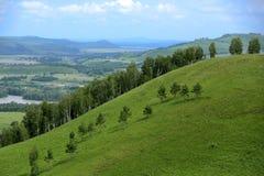 Πανόραμα τοπίων βουνών Στοκ Εικόνες