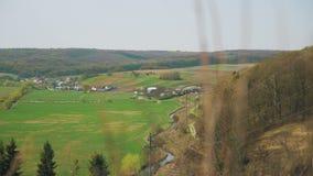Πανόραμα τοπίων Όψη του χωριού απόθεμα βίντεο