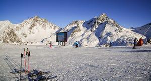 Πανόραμα του αυστριακού χιονοδρομικού κέντρου Ischgl Στοκ φωτογραφίες με δικαίωμα ελεύθερης χρήσης