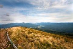 Πανόραμα του βουνού PoÅ 'onin στα βουνά Bieszczady Στοκ φωτογραφίες με δικαίωμα ελεύθερης χρήσης