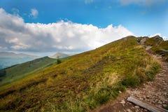 Πανόραμα του βουνού PoÅ 'onin στα βουνά Bieszczady Στοκ εικόνα με δικαίωμα ελεύθερης χρήσης