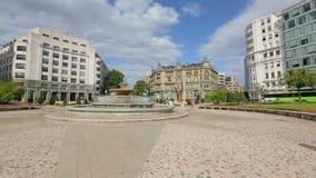 Πανόραμα του ελλειπτικού τετραγώνου που βρίσκεται στο κέντρο πόλεων του Μπιλμπάο, που επισκέπτεται στην Ισπανία φιλμ μικρού μήκους