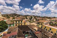Πανόραμα του δημάρχου Plaza στο Τρινιδάδ, Κούβα Στοκ εικόνες με δικαίωμα ελεύθερης χρήσης