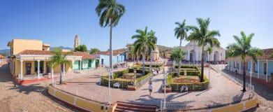 Πανόραμα του δημάρχου Plaza, Τρινιδάδ, Κούβα Στοκ Εικόνα