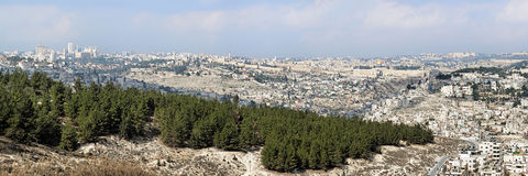 πανόραμα του Ισραήλ Ιερουσαλήμ Στοκ εικόνα με δικαίωμα ελεύθερης χρήσης