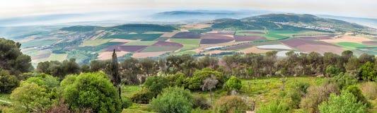 Πανόραμα του Ισραήλ της κοιλάδας από το υποστήριγμα Tabor Στοκ εικόνα με δικαίωμα ελεύθερης χρήσης