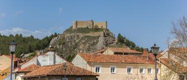 Πανόραμα του κάστρου κορυφών υψώματος Aguilar de Campoo στοκ φωτογραφίες