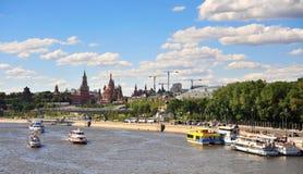 Πανόραμα του κέντρου πόλεων της Μόσχας, Ρωσία Στοκ εικόνα με δικαίωμα ελεύθερης χρήσης