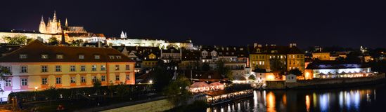 Πανόραμα του κέντρου πόλεων της Πράγας, Δημοκρατία της Τσεχίας Στοκ φωτογραφίες με δικαίωμα ελεύθερης χρήσης