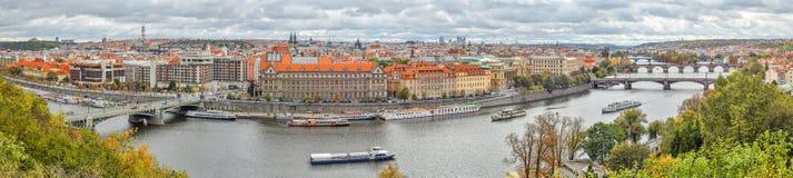 Πανόραμα του κέντρου πόλεων της Πράγας, Δημοκρατία της Τσεχίας Στοκ Φωτογραφία