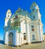 Πανόραμα του καθεδρικού ναού Dormition Pochaev Lavra Στοκ εικόνες με δικαίωμα ελεύθερης χρήσης