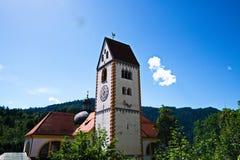 Πανόραμα του καθεδρικού ναού Fussen στη Γερμανία στοκ εικόνες με δικαίωμα ελεύθερης χρήσης