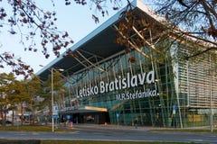 Πανόραμα του κτηρίου αερολιμένων στο χρόνο ημέρας Στοκ Εικόνες
