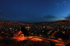 Πανόραμα του Λα Παζ νύχτας, Βολιβία Στοκ φωτογραφία με δικαίωμα ελεύθερης χρήσης