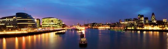 πανόραμα του Λονδίνου πόλ& Στοκ φωτογραφία με δικαίωμα ελεύθερης χρήσης