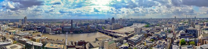 Πανόραμα του Λονδίνου Στοκ Φωτογραφία