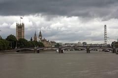 Πανόραμα του Λονδίνου Στοκ Φωτογραφίες