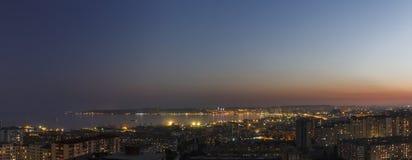 Πανόραμα του Μπακού στο ηλιοβασίλεμα της ημέρας Στοκ Εικόνες