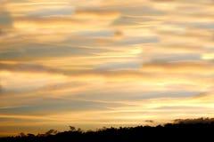 Πανόραμα του μπλε ουρανού με τα σύννεφα στοκ φωτογραφία με δικαίωμα ελεύθερης χρήσης
